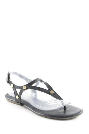 Tamaris Toe-Post sandals black simple style