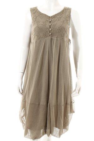 Tandem A-Linien Kleid graubraun Casual-Look