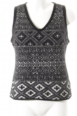 Tandem Fine Knitted Cardigan black-white Aztec pattern casual look