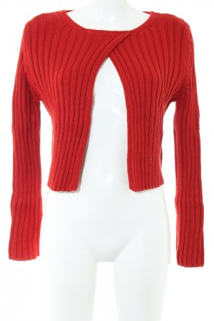 Tandem Knitted Bolero red striped pattern casual look