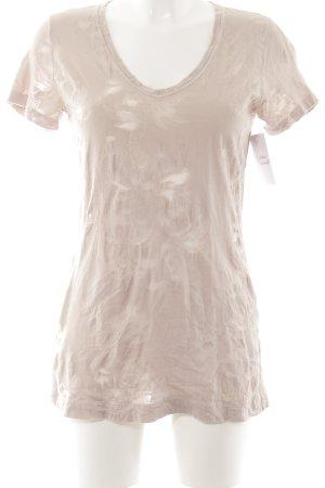 Tandem T-Shirt altrosa florales Muster klassischer Stil