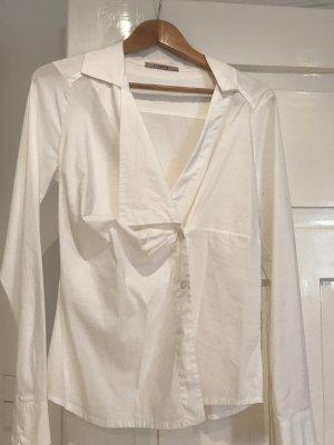 Tandem Wraparound Blouse white-natural white cotton