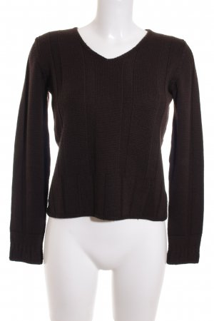Tandem Wollen trui donkerbruin simpele stijl