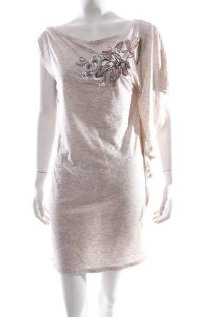 Tango Longshirt grau-blasslila florales Muster extravaganter Stil