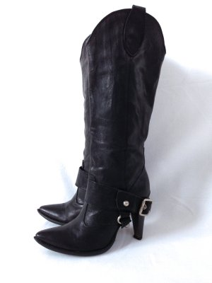 Tango Western Boots black-silver-colored