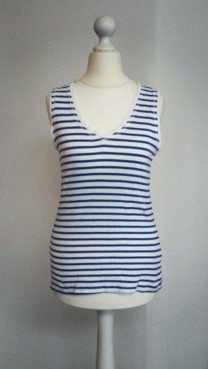 Zara Débardeur blanc-bleuet