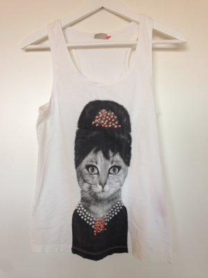 Tank Top mit Katzen-Print