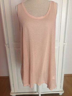Tank top nude beige transparent