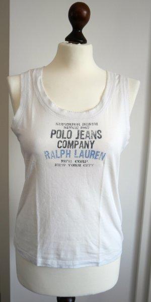 Tank Top von Ralph Lauren Polo Jeans in weiß mit Print