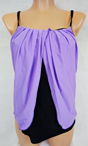 Bodyflirt Tankini lila-zwart Polyester