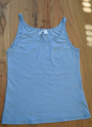 H&M Divided Tank Top azure-baby blue
