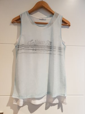 edc by Esprit Tank Top white-turquoise