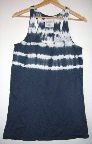 Tanktop graublau weiß batik