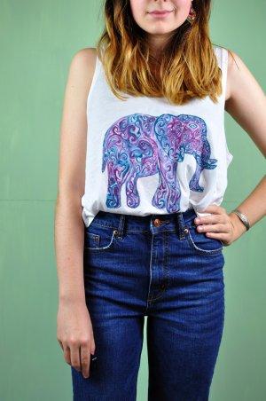 Tanktop mit Elefant im Bohemian Stil