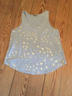 H&M Tank Top grey-gold-colored