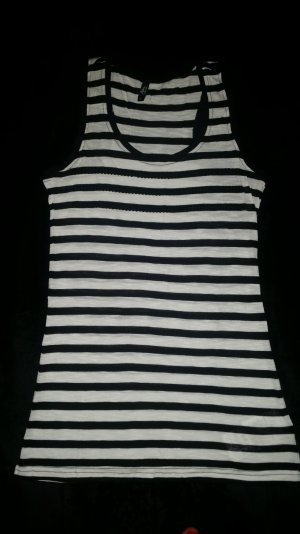 Ann Christine Tank Top white-black