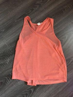 H&M Blusa sin espalda naranja neón-naranja