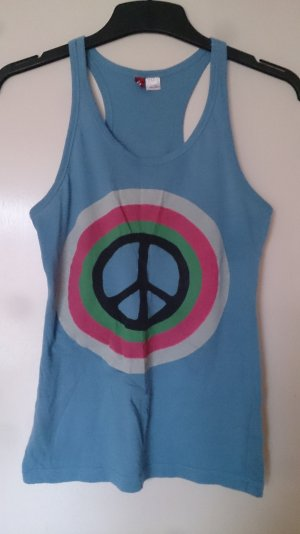 tanktop peace h&m blau