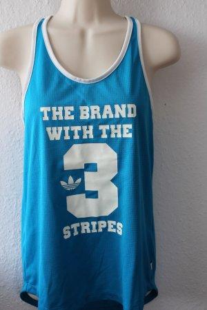 Adidas Originals Camiseta sin mangas turquesa-azul neón Poliéster