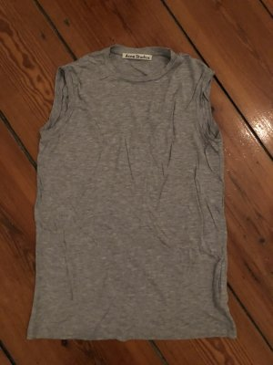 Acne Camiseta color plata