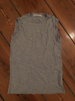 Tanktop von Acne Studios in Grau Rundhals T-Shirt ärmellos Shirt grau meliert