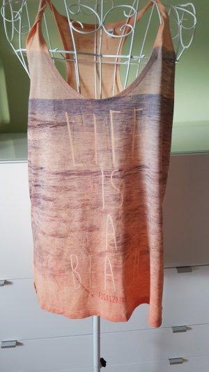 Débardeur abricot-bleu foncé