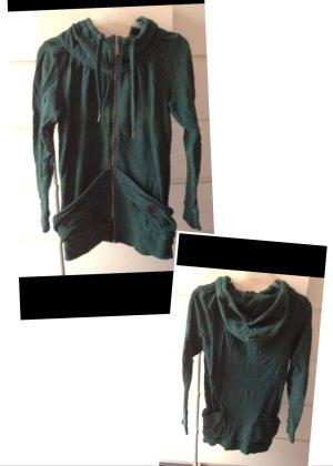 tannengrüner long hoodie