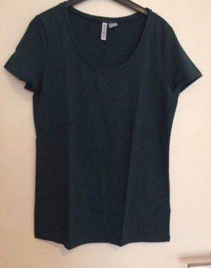 Tannengrünes Basic T-Shirt M 38