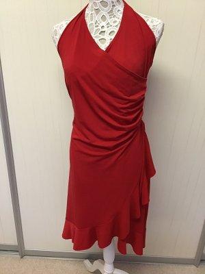 Tanz Abend Sommer Neckholder Kleid Rot 38 Stretch Salsa Latein