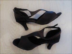 Sandales à lanière noir daim