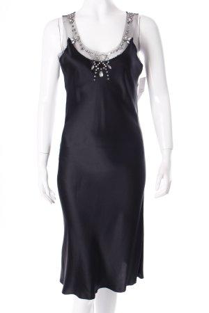 Tara jarmon Abendkleid schwarz Netz-Optik