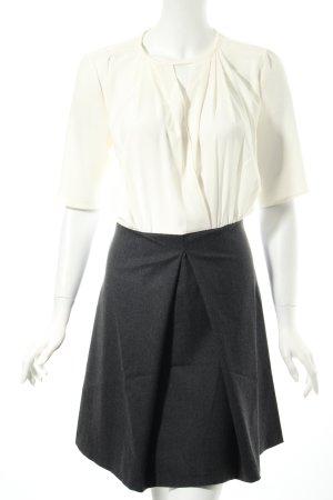 Tara jarmon Blusenkleid wollweiß-anthrazit klassischer Stil