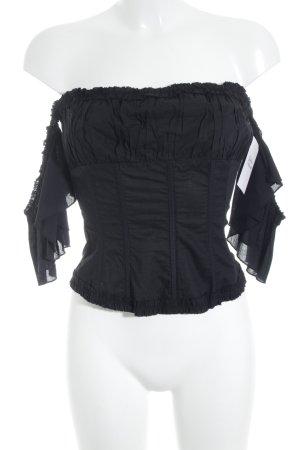 Tara jarmon Haut type corsage noir style de lingerie