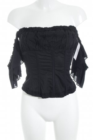 Tara jarmon Corsage Top black lingerie style