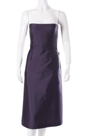 Tara jarmon Vestido corsage violeta oscuro elegante