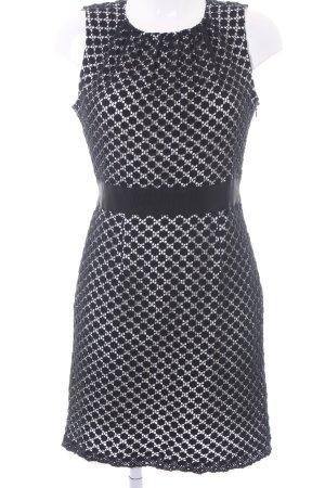 Tara jarmon Etuikleid schwarz-weiß grafisches Muster Business-Look