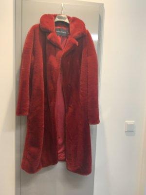 Tara jarmon Abrigo de piel sintética rojo oscuro