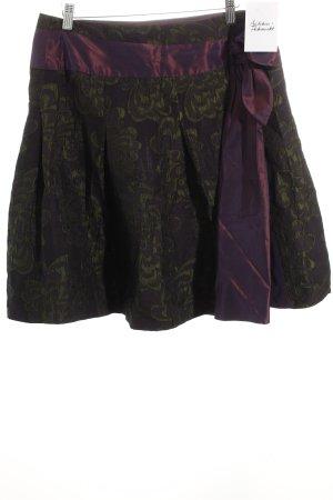 Tara jarmon Faltenrock dunkelviolett-grüngrau Romantik-Look