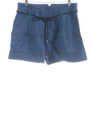 Tara jarmon Pantalón corto de talle alto azul-negro estilo clásico