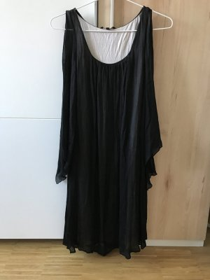 Tara Jarmon Kleid aus Seide schwarz nude 40