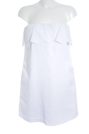 Tara jarmon schulterfreies Kleid weiß schlichter Stil