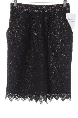 Tara jarmon Spitzenrock schwarz-beige Elegant