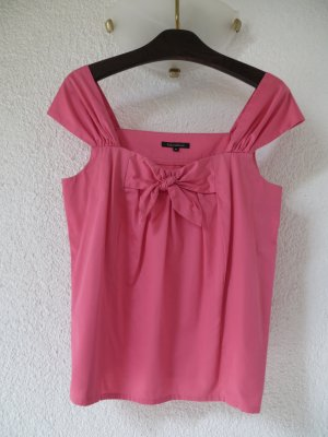 Tara Jarmon Top Bluse Schleife pink