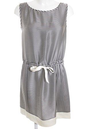 Tara jarmon Trägerkleid weiß-dunkelblau Streifenmuster Elegant