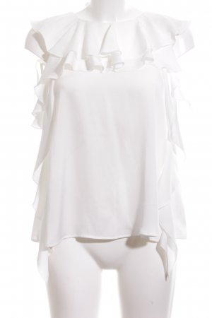Tara jarmon Flounce Top white casual look