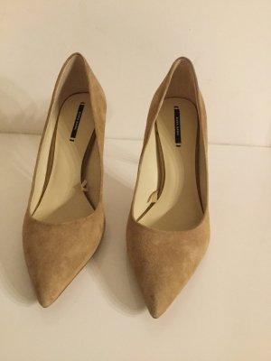 Zara Chaussures doré cuir