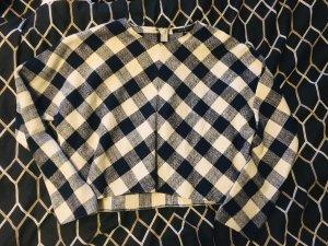 Zara Camicia cropped bianco sporco-blu scuro
