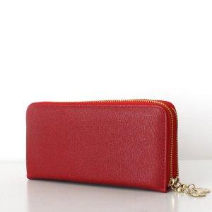 TARA Wallet Clutch Saffiano Rot Geldbörse Portemonnaie
