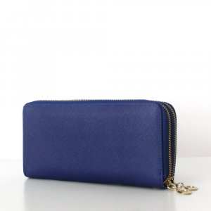 TARA Wallet Clutch Saffiano Royal Blau Geldbörse Portemonnaie