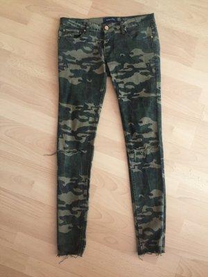 Pantalon taille basse multicolore